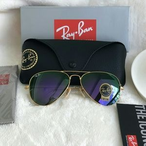 VIOLET RAY-BAN AVIATOR 100%AUTHENTIC